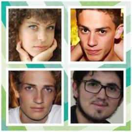 I rappresentati di istituto: sopra Alice e Antonio, sotto Glauco e Emiliano